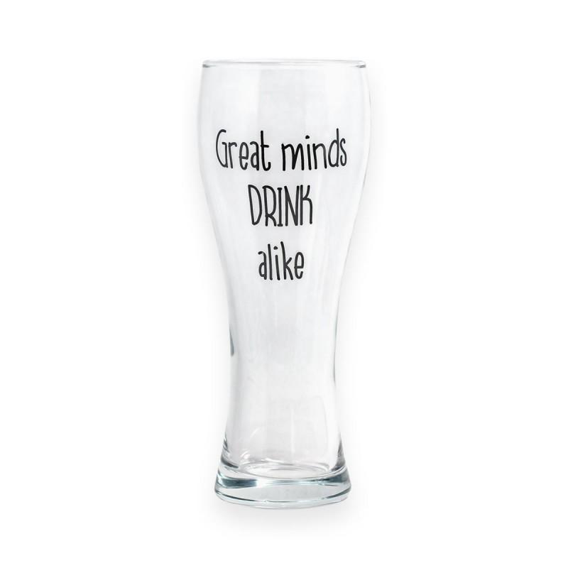 Bicchiere da birra Great Minds Drink Alike