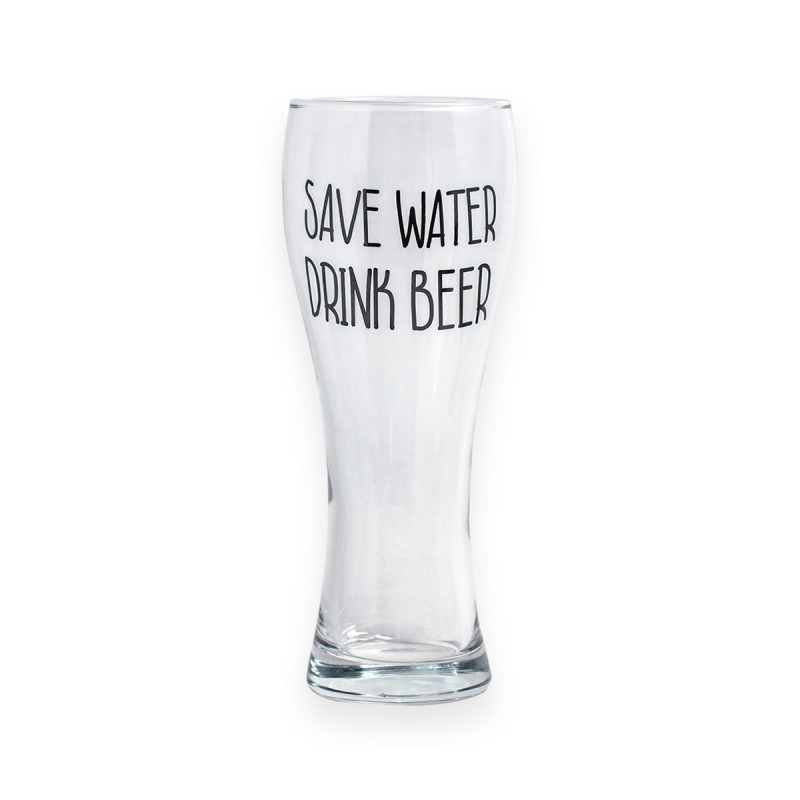 Bicchiere da birra Save Water Drink Beer