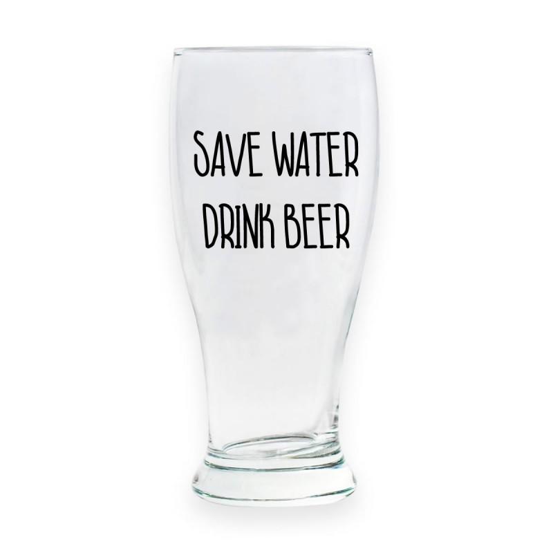 """Bicchiere da birra """"SAVE WATER DRINK BEER"""""""